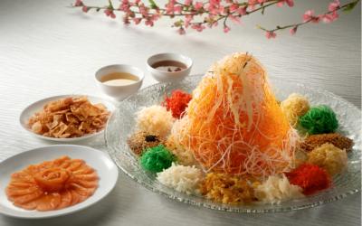 """Huat"" With Peach Garden's New ""Heng Heng"" Million Dollar Yu Sheng And Premium Mala Seafood Pen Cai"