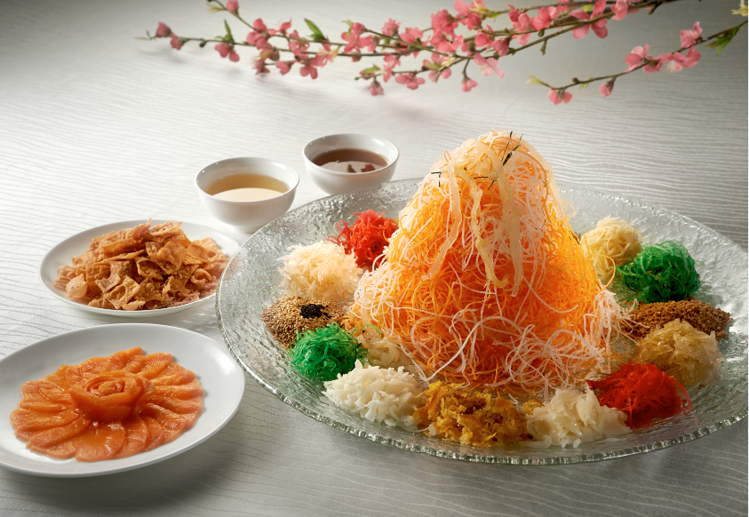 """Huat"" With Peach Garden's New ""Heng Heng"" Million Dollar Yu Sheng And Premium Mala Seafood Pen Cai"